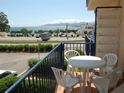Photo for Cozy and bright apartment located in Llançà, just 50 meters from Grifeu beach and 2 km. fr