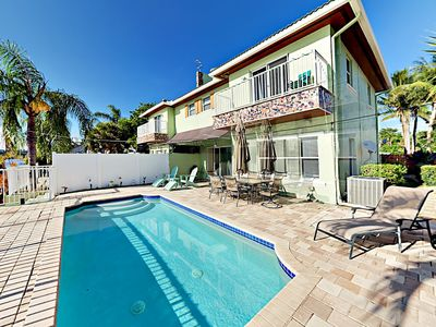 Photo for Private Pool & Dock! 3BR Intracoastal Townhouse - Walk 5 Mins to Beach