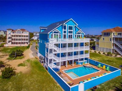 Photo for Decked Out Oceanfront, Salvo! Dog-Friendly, Pool, Swim-Up Bar, Hot Tub, Must See