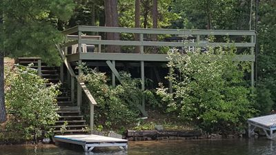 View of deck from the lake.