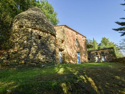 Photo for romantic gîte in the woods with private swimming pool and view on the valley.