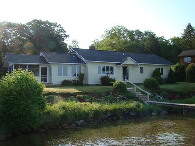 Photo for Lovely 3-br home on east side of crystal-clear Torch Lake (4 season rental)