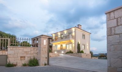 Photo for Luxurious villa in Agia Pelagia, Crete, with spectacular sea and mountain views