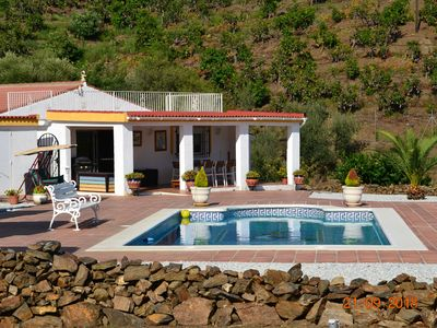 Photo for Holiday home in a quiet location, with a fantastic mountain panorama and a large pool