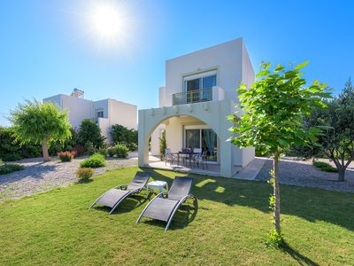 Photo for Lovingly furnished house in a quiet location with heated pool and sea views
