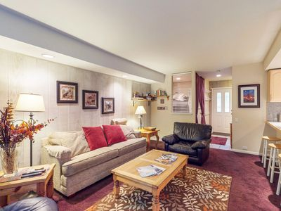 Photo for Cozy condo with shared picnic and barbecue area and a shared hot tub & pool!