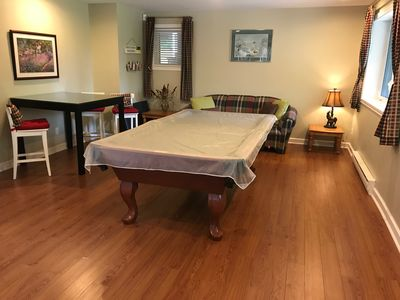Req room in basement - New pool table and table