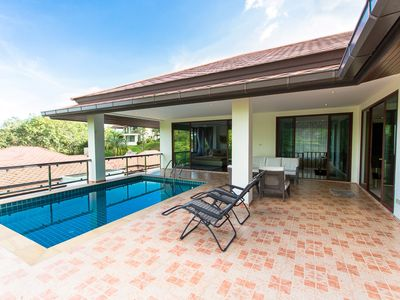 Photo for 5 BDR Seaview Treasure Park Pool Villa 4 @ Chalong