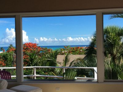 Photo for Hilltop home with ocean view & pool