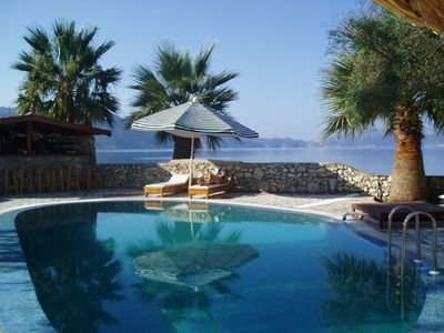 Photo for Unique villa sleeps 12+ with pool, beach & jetty in truly unspoilt turkey.