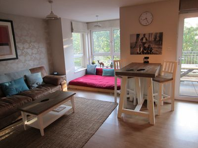 Photo for Lux Flat, Port Of Leith, Sleeps Six, Private Parking, Elevator