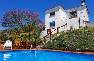 Photo for Holiday home Encantada  Benamargosa with private pool, garden and sea views