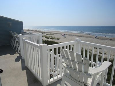 """Photo for NEW LISTING! """"Ocean Cove"""" Ocean Front condo-walk to everyting!"""