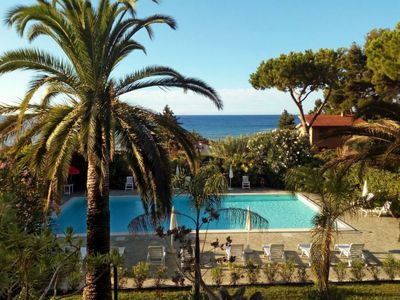 Photo for 2 bedroom Apartment, sleeps 6 in Mortola Inferiore with Air Con and WiFi