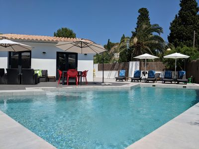 Photo for NEWLY BUILT LUXURY PRIVATE 3 BEDROOM VILLA, LARGE POOL, 100m TO THE PINE WALK