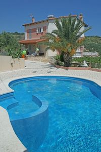 Photo for Family villa, private pool, sea view, peaceful, large garden, gated, parking