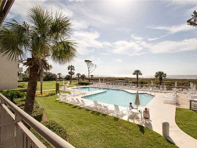 Photo for 215 Ocean One   Beautifully Renovated   Oceanfront   Complex Pool & Sun Deck   Walk 2 Coligny