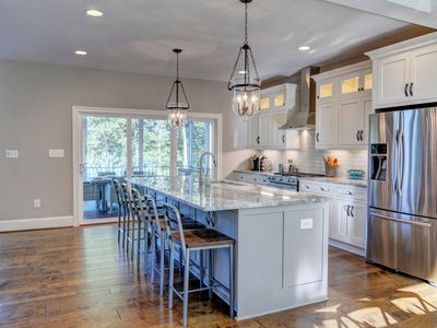 fully stocked gourmet kitchen off the great room with 10 ft granite island  5 master bedrooms  all water views  two      homeaway mineral  rh   homeaway com