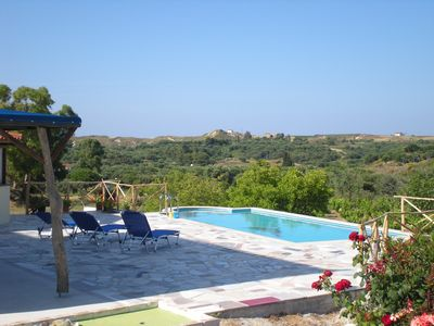 Photo for Beautiful Villa Dorothea, With Pool And Jaccuzzi, Is A Short Walk From Xi Beach