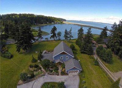 Situated on 2.5 private acres on Race Lagoon looking N to Saratoga Passage.