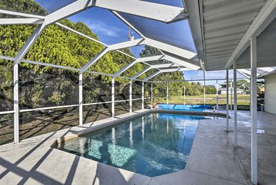 Have a peaceful Cape Coral getaway at this 3-bed, 2-bath vacation rental home!