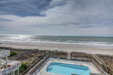 Ocean Front Pool, directly in front of our unit.