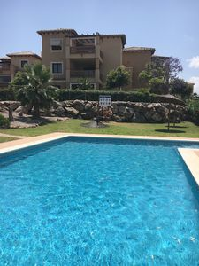 Beautiful Front Line Apartment overlooks the Golf Course and Pool.