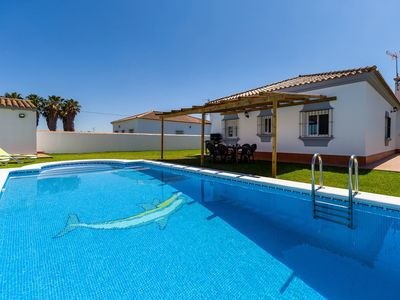 Photo for Beautiful Home Short Drive from Beach with Pool, Terrace & Large Garden; Parking Available, Pets Allowed