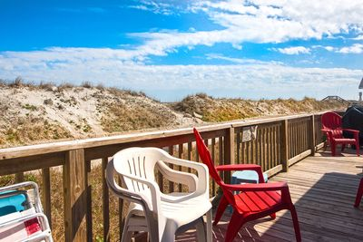 Front deck/Sand dunes/Path to the beach