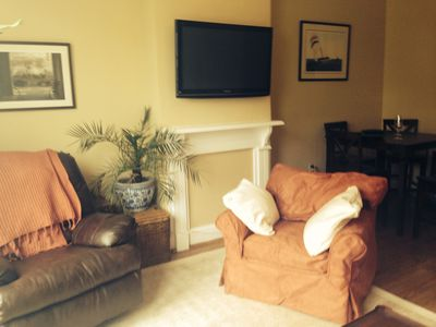 living room with new furniture and 42' TV