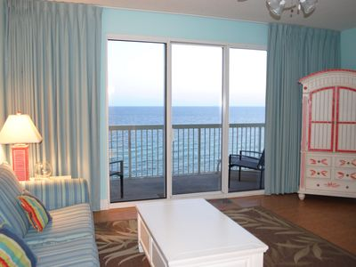 Photo for BEACHFRONT CONDO!! Large screen TV!  New washer/dryer and stainless refrigerator
