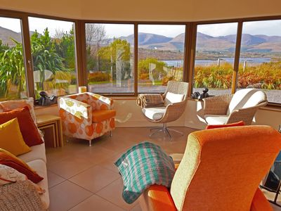 Conservatory offers stunning sea and mountain views