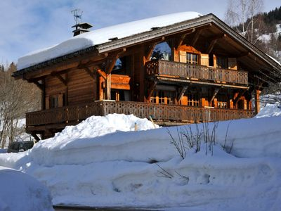 Photo for Savoyard chalet on scenic Route du Mont d'Arbois, 500m from the slopes