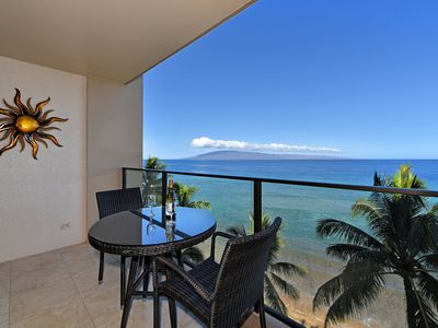 Photo for PHENOMENAL VIEW ~ Ocean Front Studio on 8th floor! North Kaanapali Beach, A/C