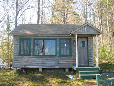 Photo for Wolfe's Neck Cabin: Perfect Old Style Log Cabin On The Shore Of South Freeport.