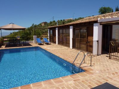 Photo for Rural holiday house with private swimming pool, in the hinterland of the Costa del Sol