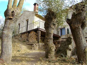 Old mill at 25 km. Segovia, eco house design in nature