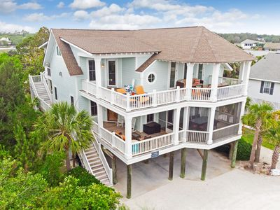 Stunning Second Row Beach Home with Ocean Views, Covered Screened and Open Porches, Short Stroll to Beach Front Bliss, Book Now!!!