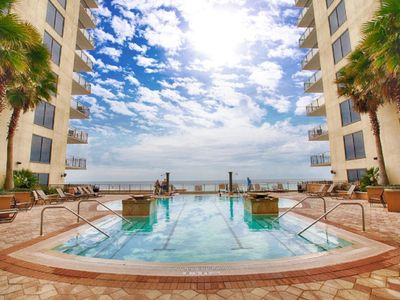 Photo for Gulf View * Budget & Family Friend * Rooftop Pool * Beach Pool & Fun in the Sun!