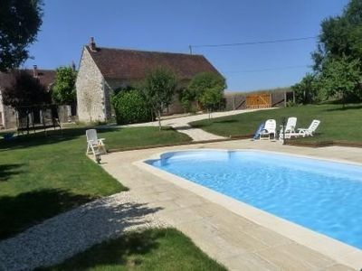 Photo for Renovated farmhouse rental in Burgundy for 15 people with swimming pool