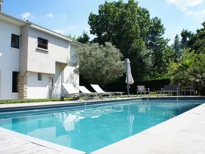 Photo for Beautiful villa 100m beach Bétey with heated pool and outbuilding