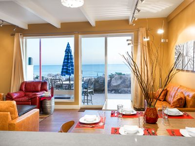 Photo for New Listing! Jaw-Dropping Beach-Front Retreat with Three Stories of Ocean Views!