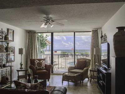 BAM!! GROUND FLOOR GULF FRONT POOL SIDE. JUST STEPS TO THE BEACH. ONLY 35 UNITS.