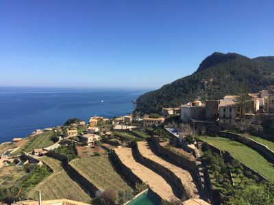 Breathtaking views from the the terrace of the Sea, Mountains and Vineyards