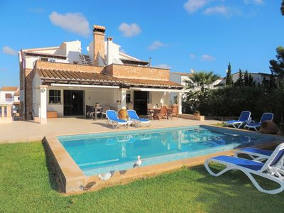 Photo for Villa Mari Pili - Two Beautiful Villas Offered Together for Family/Friends with a Shared Garden/Pool and only 200 m from the Beach! - Free WiFi