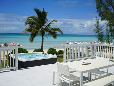 Photo for Tarpum Bay, Bahamas -NEW Luxury beachfront villa with private hot tub and beach