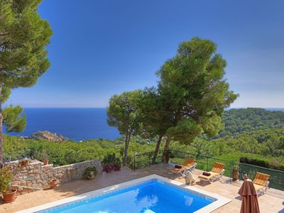 Photo for PATIO DE LOS GATOS -villa with sea views and private pool-Tamariu-Costa Brava
