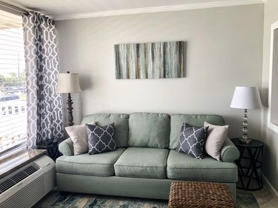 Photo for NEW LISTING! REMODELED END UNIT TOP FLOOR CONDO W/ DIRECT BEACH AND SOUND ACCESS