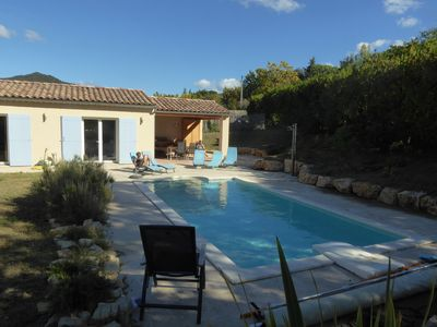 Photo for Holiday bungalow with private pool in authentic village.