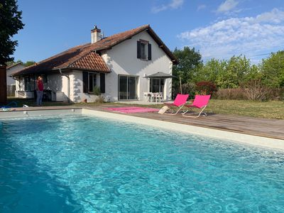 Photo for Family house 12 guests with pool near Ocean / Contis Cap Homy beaches